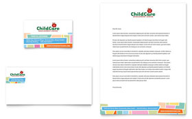 Preschool Kids & Day Care Business Card & Letterhead - Microsoft Office Template