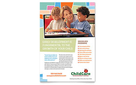 Preschool Kids & Day Care Leaflet Template