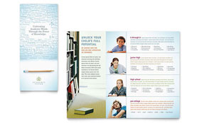 Academic Tutor & School Tri Fold Brochure - Word Template & Publisher Template