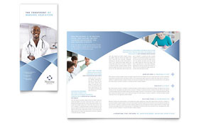 Nursing School Hospital Tri Fold Brochure - Word Template & Publisher Template