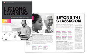 Adult Education & Business School Brochure - Word Template & Publisher Template