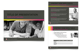 Adult Education & Business School PowerPoint Presentation - PowerPoint Template