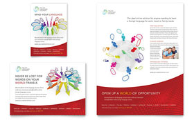 Language Learning Leaflet Template