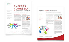 Language Learning Datasheet - Word Template & Publisher Template