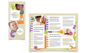 Kindergarten Tri Fold Brochure - Word Template & Publisher Template