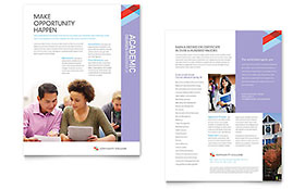 Community College Datasheet - Word Template & Publisher Template