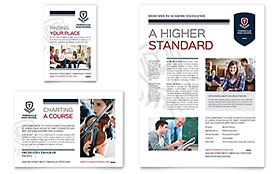 High School Ad - Word Template & Publisher Template