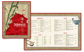 Japanese Restaurant Menu - Word Template & Publisher Template