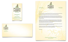 Italian Pasta Restaurant Business Card Template