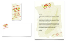 Mexican Restaurant Letterhead - Word Template & Publisher Template