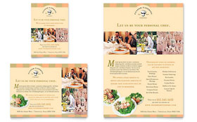 Catering Company Flyer & Ad - Microsoft Office Template
