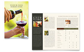 Vineyard & Winery Brochure - Word Template & Publisher Template