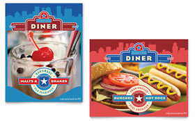 American Diner Restaurant Poster Template