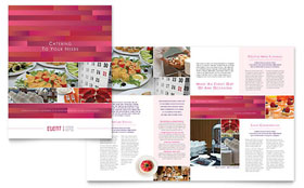 Corporate Event Planner & Caterer Brochure - Microsoft Office Template