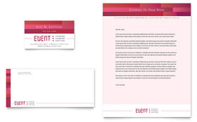 Corporate Event Planner & Caterer Business Card & Letterhead - Microsoft Office Template
