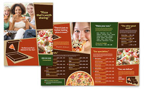Pizza Pizzeria Restaurant Menu - Word Template & Publisher Template
