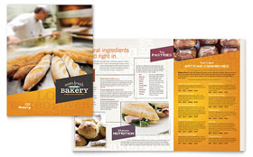 Artisan Bakery Menu - Word Template & Publisher Template