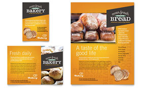 Artisan Bakery Flyer & Ad - Microsoft Office Template