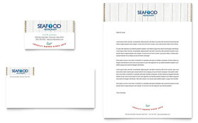 Seafood Restaurant Letterhead - Word Template & Publisher Template