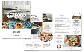 Seafood Restaurant Menu - Microsoft Office Template