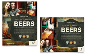 Brewery & Brew Pub Poster - Word Template & Publisher Template