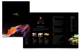 Sushi Restaurant Menu - Word Template & Publisher Template