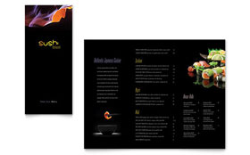 Sushi Restaurant Take-out Brochure - Word Template & Publisher Template