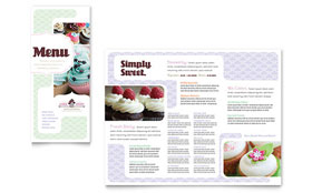 Bakery & Cupcake Shop Menu - Word Template & Publisher Template