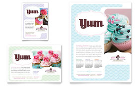 Bakery & Cupcake Shop Flyer & Ad - Microsoft Office Template
