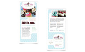 Bakery & Cupcake Shop Rack Card - Microsoft Office Template