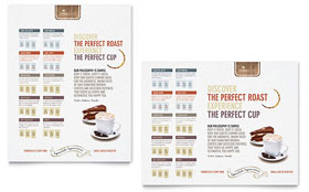 Coffee Shop Poster - Word Template & Publisher Template