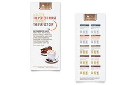 Coffee Shop Rack Card - Word Template & Publisher Template