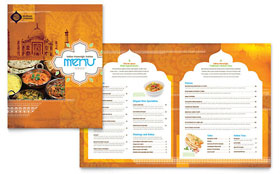 Indian Restaurant Menu - Word Template & Publisher Template