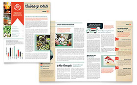 Culinary School Newsletter - Word Template & Publisher Template