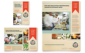 Culinary School Leaflet Template