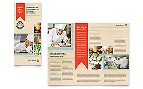 Culinary School Tri Fold Brochure - Word Template & Publisher Template