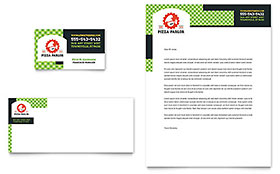 Pizza Parlor Letterhead - Word Template & Publisher Template