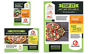 Pizza Parlor Ad - Word Template & Publisher Template