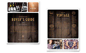 Winery Datasheet - Word Template & Publisher Template