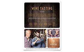 Winery Leaflet Template