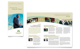 Investment Management Tri Fold Brochure - Word & Publisher Template