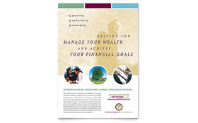 Financial Planning & Consulting Flyer - Word Template & Publisher Template