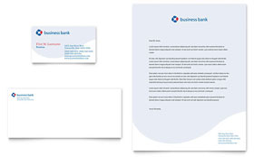 Business Bank Business Card & Letterhead - Word & Publisher Template