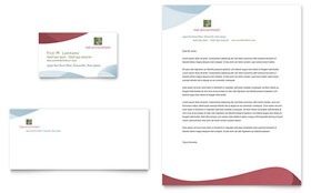 Tax Accounting Services - Business Card & Letterhead Template
