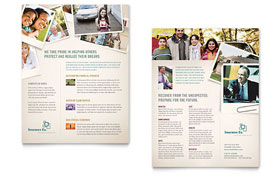Life Insurance Company Datasheet - Word Template & Publisher Template