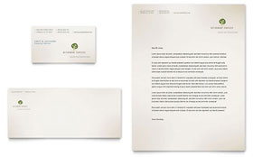 Retirement Investment Services Letterhead - Word Template & Publisher Template
