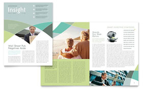 Financial Advisor Newsletter - Microsoft Office Template