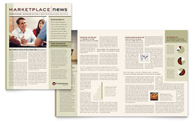 Financial Planner Newsletter - Microsoft Office Template