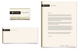 Financial Planner Business Card & Letterhead - Word & Publisher Template