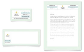 Mortgage Lenders Business Card & Letterhead - Word & Publisher Template